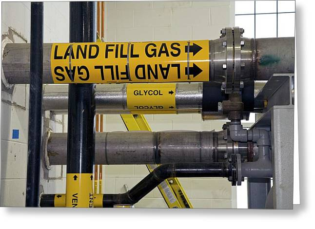 Landfill Gas Generating Electricity Greeting Card by Jim West