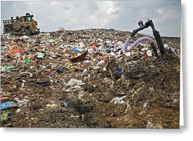 Landfill Gas Recovery Well Greeting Card