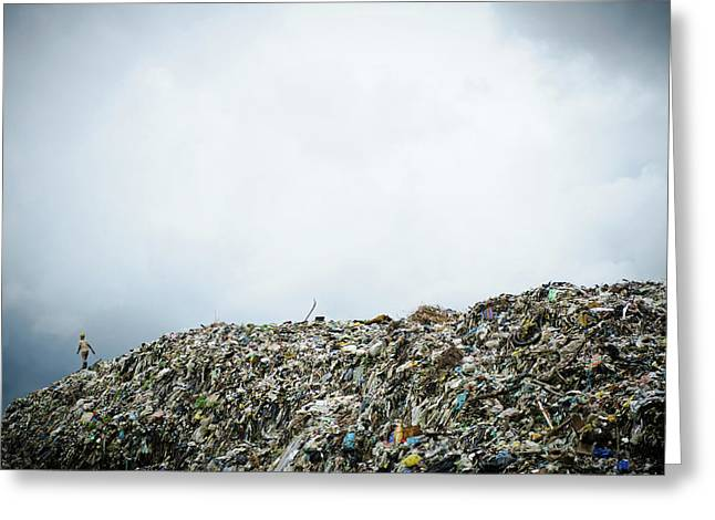 Landfill Greeting Card by Matthew Oldfield