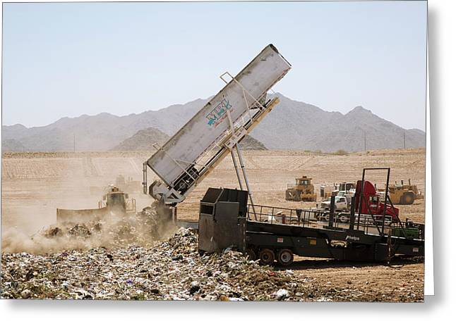 Landfill Waste Disposal Site Greeting Card by Peter Menzel