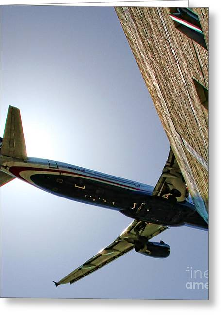 Landing By Diana Sainz Greeting Card
