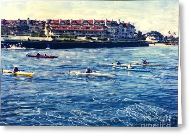 Landing Kayaking Greeting Card