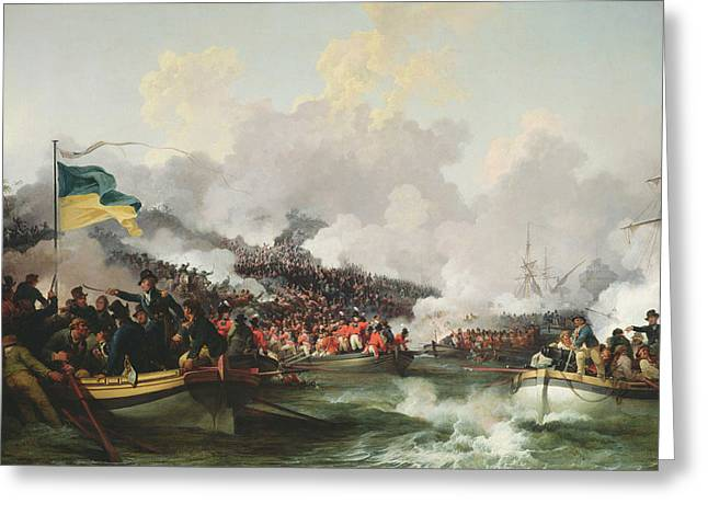 Landing Of British Troops At Aboukir, 8 March 1801, 1802 Oil On Canvas Greeting Card by Philip James Loutherbourg
