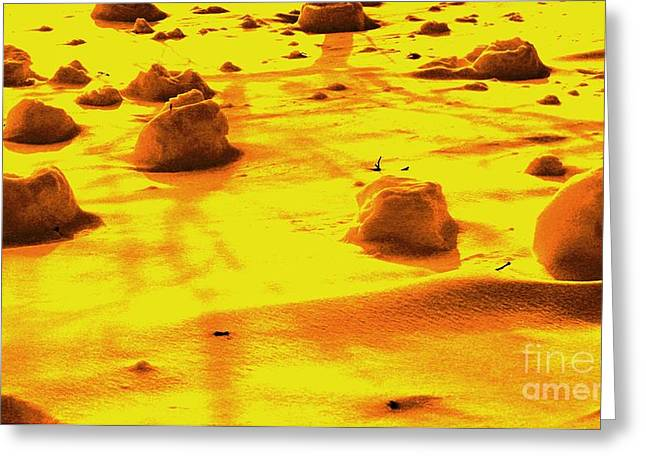 Landing On Mars 3 Greeting Card by Michael Grubb