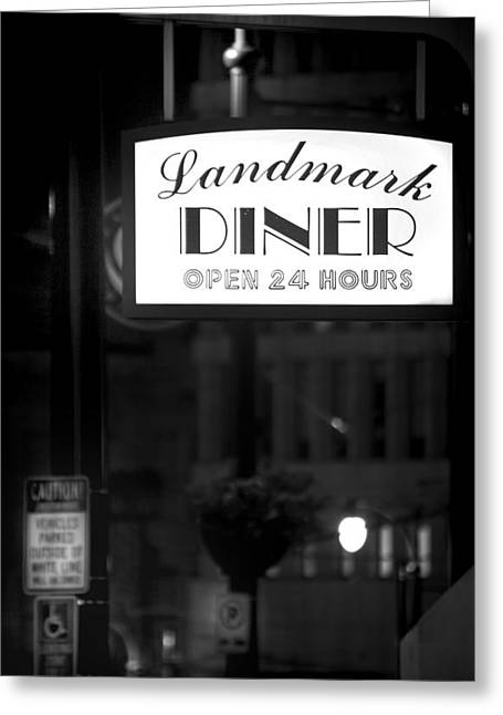 Landmark Diner Greeting Card by Mark Andrew Thomas