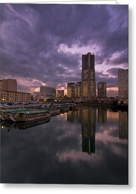 Landmark Tower Greeting Card by Aaron Bedell
