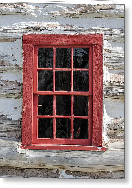 Landow Cabin Window Greeting Card