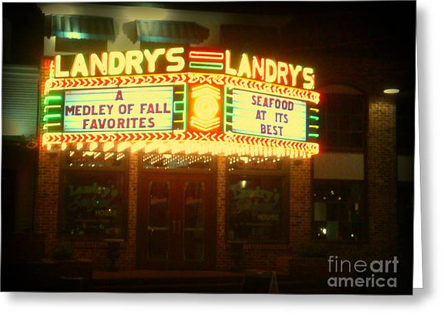 Landry's Seafood In Lomoish Greeting Card