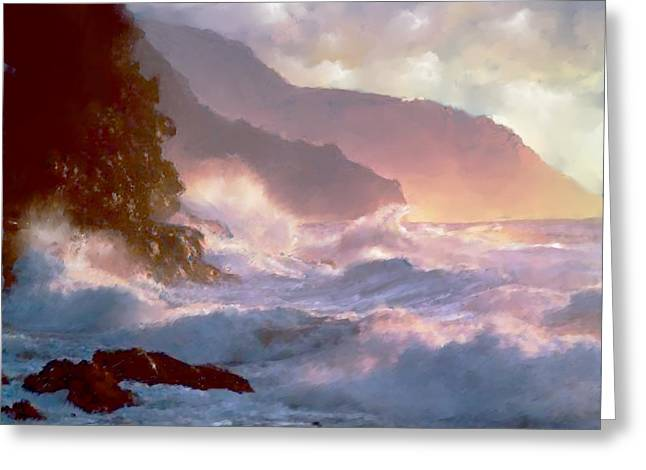 Lands End Greeting Card by Neil Kinsey Fagan