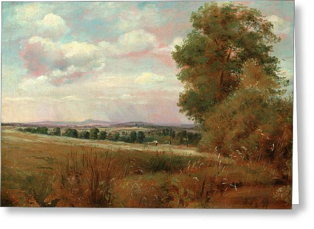 Landscape At Hampstead, With Harrow In The Distance Looking Greeting Card