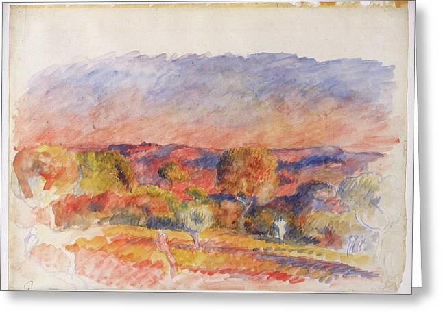 Landscape Greeting Card by Auguste Renoir