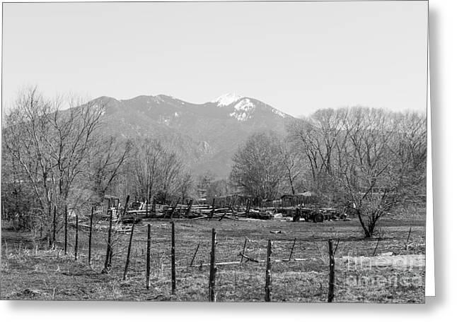 Landscape D10r Taos Nm Greeting Card