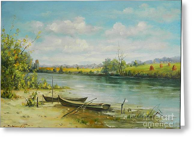 Landscape From Delta Dunarii Greeting Card by Petrica Sincu