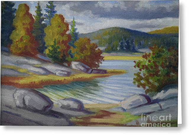 Landscape From Finland Greeting Card