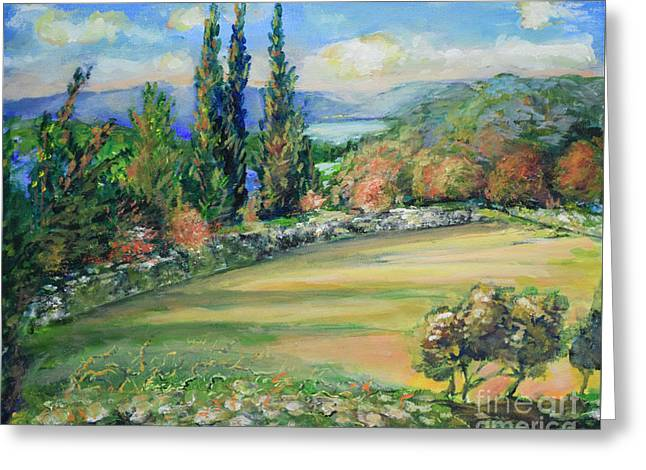 Landscape From Kavran Greeting Card
