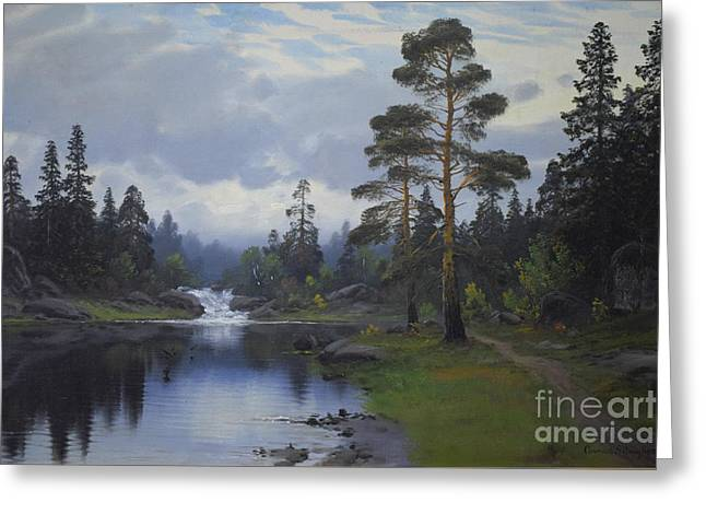 Landscape From Norway Greeting Card