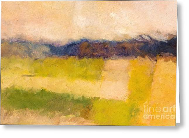 Landscape Abstract Impression Greeting Card