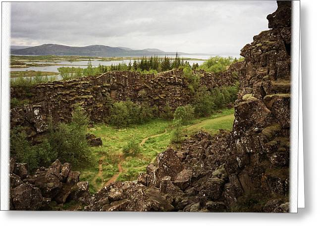 Landscape In Iceland Pingvellir Greeting Card