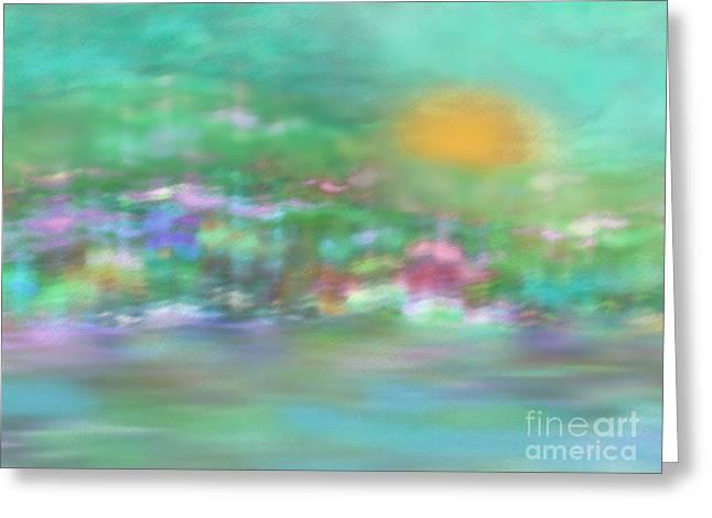 Landscape In Pastel Colors Greeting Card by Klara Acel