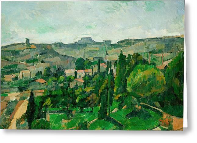 Landscape In The Ile-de-france Greeting Card by Paul Cezanne