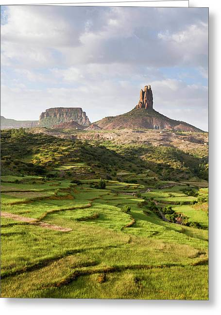 Landscape In Tigray, Northern Ethiopia Greeting Card