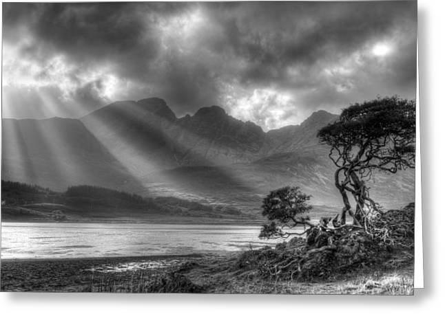 Greeting Card featuring the photograph Landscape Scotland by Michalakis Ppalis