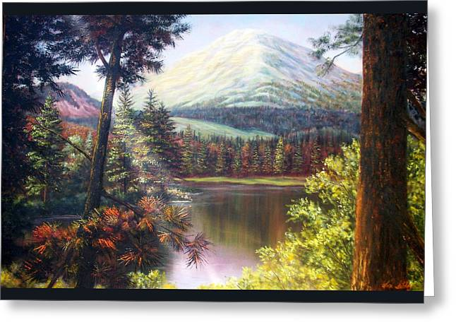 Landscape-lake And Trees Greeting Card