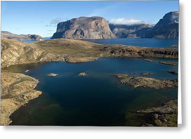 Landscape, Long Island, Greenland Greeting Card by Daisy Gilardini