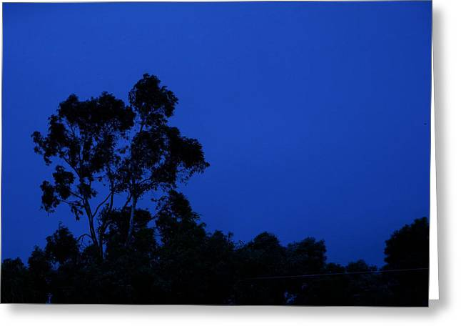 Greeting Card featuring the photograph Blue Landscape by Mark Blauhoefer