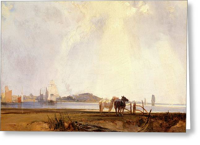 Landscape Near Quilleboeuf, France Near Quilleboeuf Greeting Card by Litz Collection