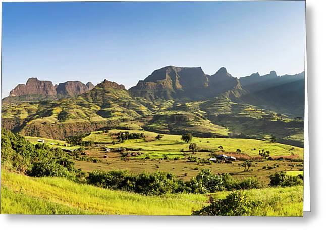 Landscape Near The Escarpment Greeting Card by Martin Zwick