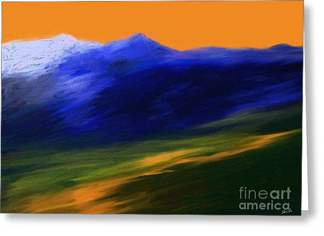 Landscape No 210 Greeting Card by Shesh Tantry
