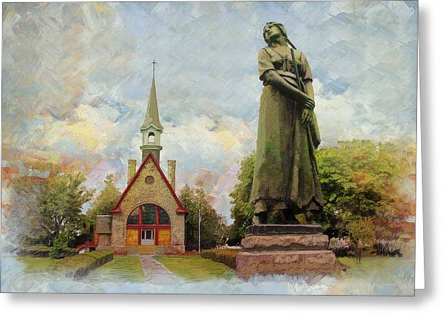 Landscape Of Grand Pre Greeting Card by Catf