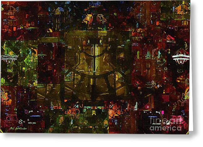 Landscape Of Hell Greeting Card by RC deWinter
