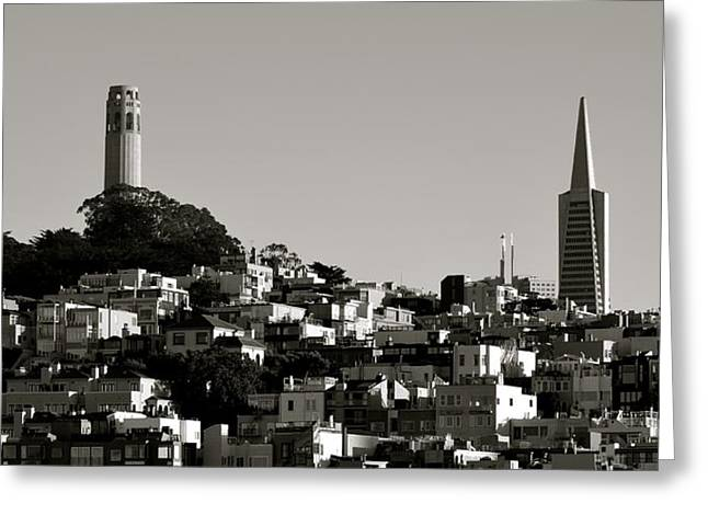 Greeting Card featuring the photograph Landscape Of San Francisco by Alex King