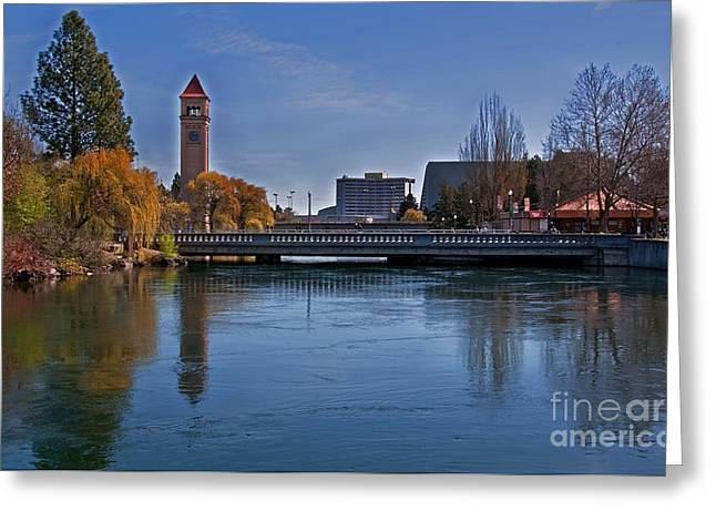 Greeting Card featuring the photograph Landscape Of Spokane Wa Riverfront Park  by Valerie Garner