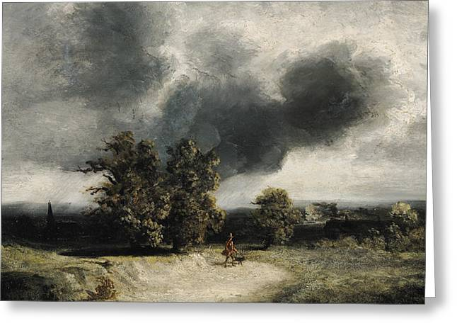Landscape On The Outskirts Of Paris Greeting Card