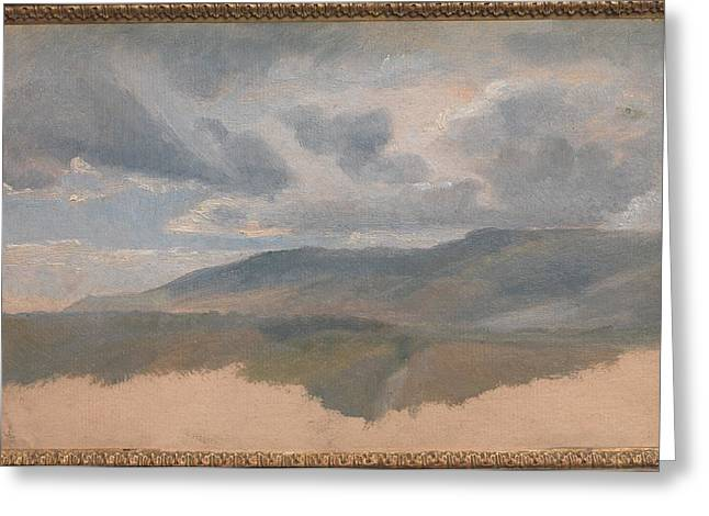 Landscape Study With Clouds Greeting Card