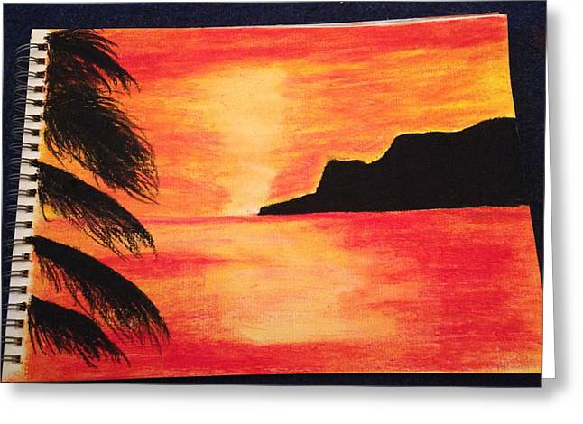 Landscape Sunset Greeting Card by  Jessica Hope
