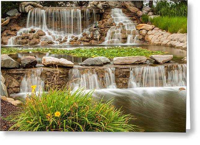 Landscape Waterfall Greeting Card