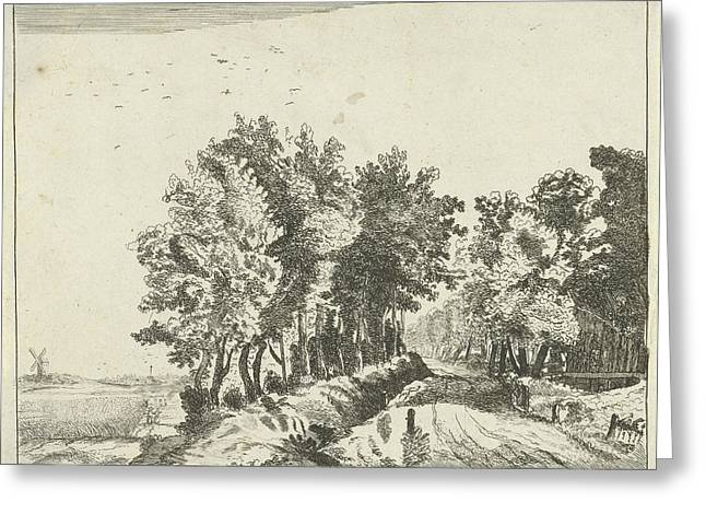 Landscape With A Hut On The Road, Anna Maria De Koker Greeting Card by Anna Maria De Koker