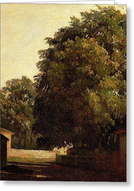 Landscape With Chestnut Tree, Peter Dewint Greeting Card by Litz Collection