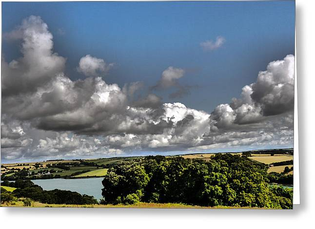 Greeting Card featuring the photograph Landscape With Clouds by Winifred Butler
