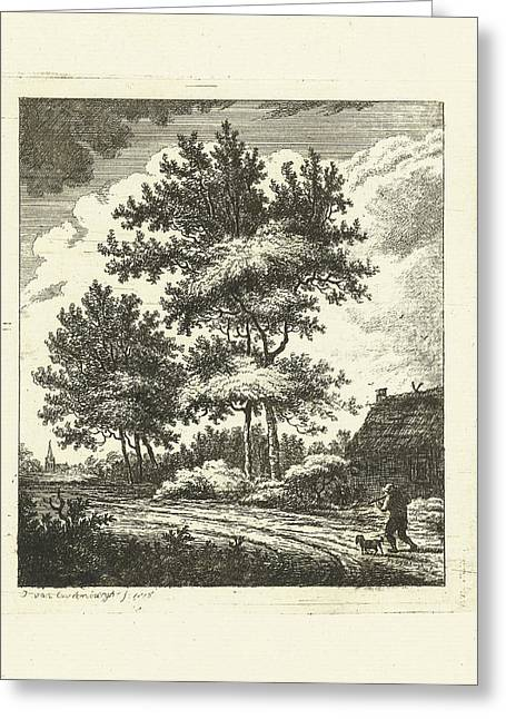 Landscape With Country Road, Johannes Van Cuylenburgh Greeting Card by Artokoloro