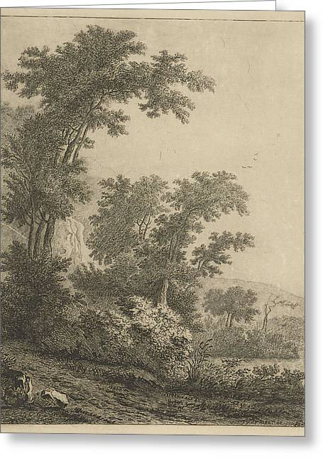 Landscape With High Trees, Print Maker Baron Reinierus Greeting Card