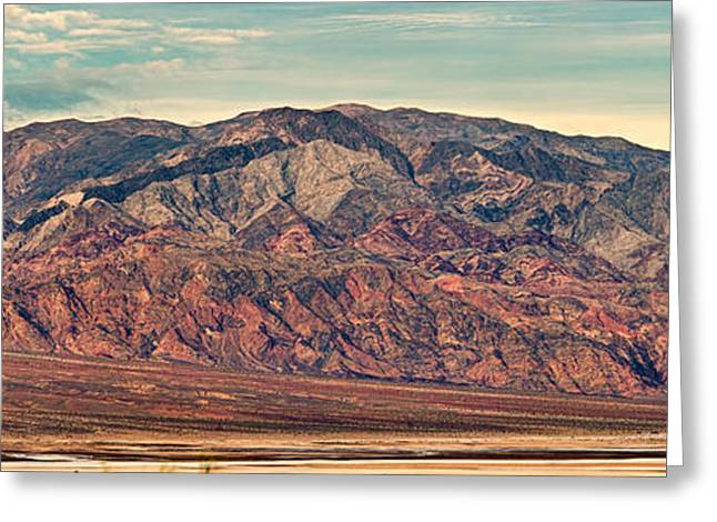 Landscape With Mountain Range Greeting Card by Panoramic Images
