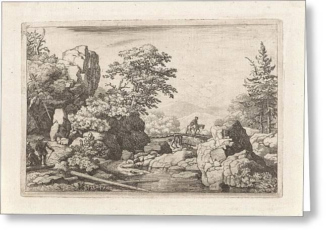 Landscape With Rider On Bridge, Allaert Van Everdingen Greeting Card by Quint Lox