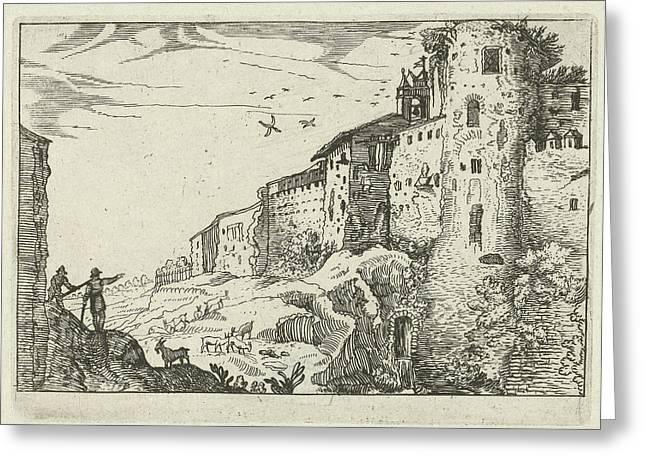 Landscape With Roman Ruins, Willem Van Nieulandt II Greeting Card
