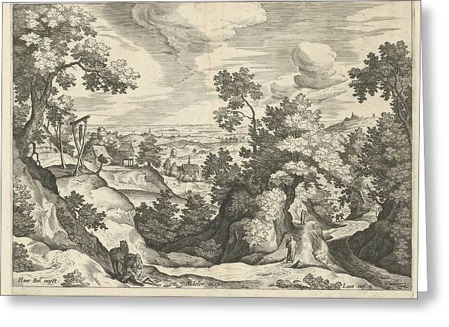 Landscape With The Good Samaritan, Print Maker Johann Greeting Card