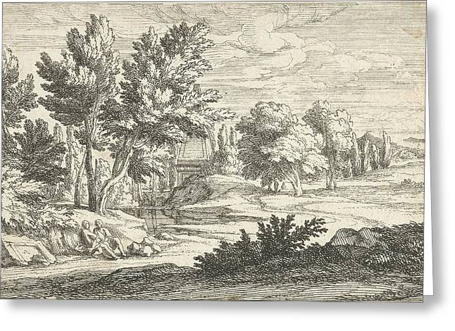 Landscape With Tomb, Adriaen Frans Boudewyns Greeting Card